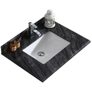 "Black Wood Countertop - 30"" - Single Hole with Rectangle Sink by Laviva"