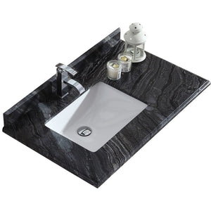 "Odyssey - 36"" - Black Wood Marble Top by Laviva"