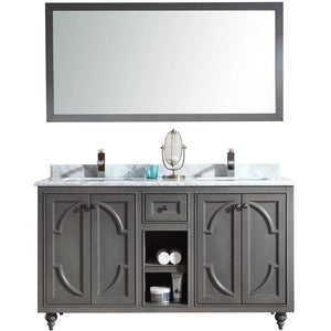 Odyssey - 60 - Maple Grey Vanity and White Carrera Counter by Laviva