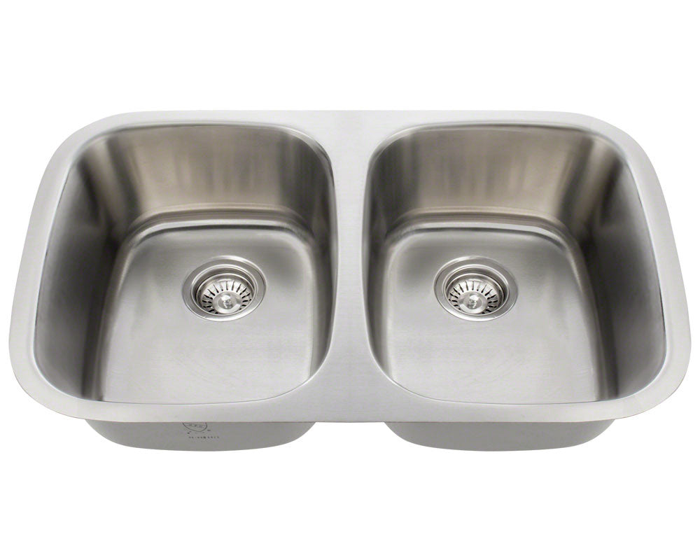 P015-16 Double Bowl Stainless Steel Sink by Polaris