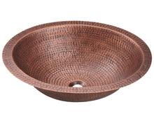 P019 Single Bowl Oval Copper Sink by Polaris