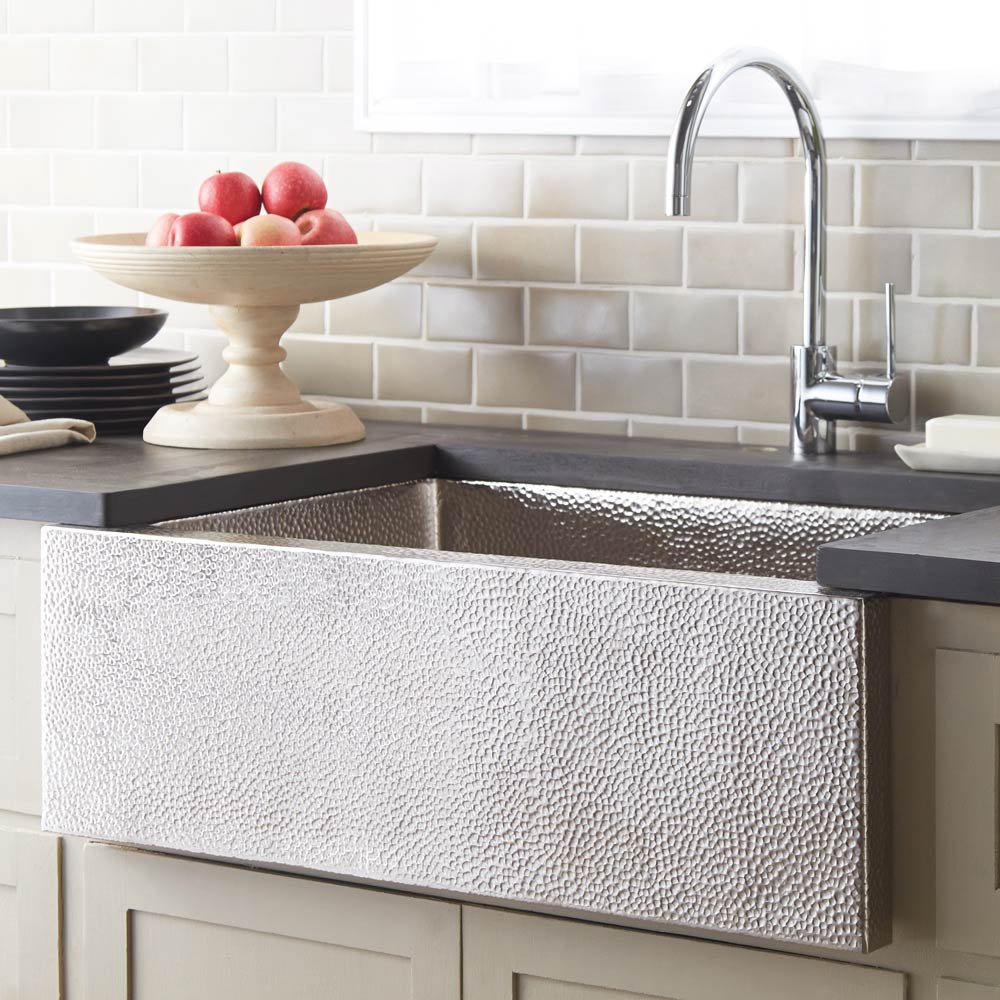 Pinnacle Kitchen SInk in Brushed Nickel by Native Trails