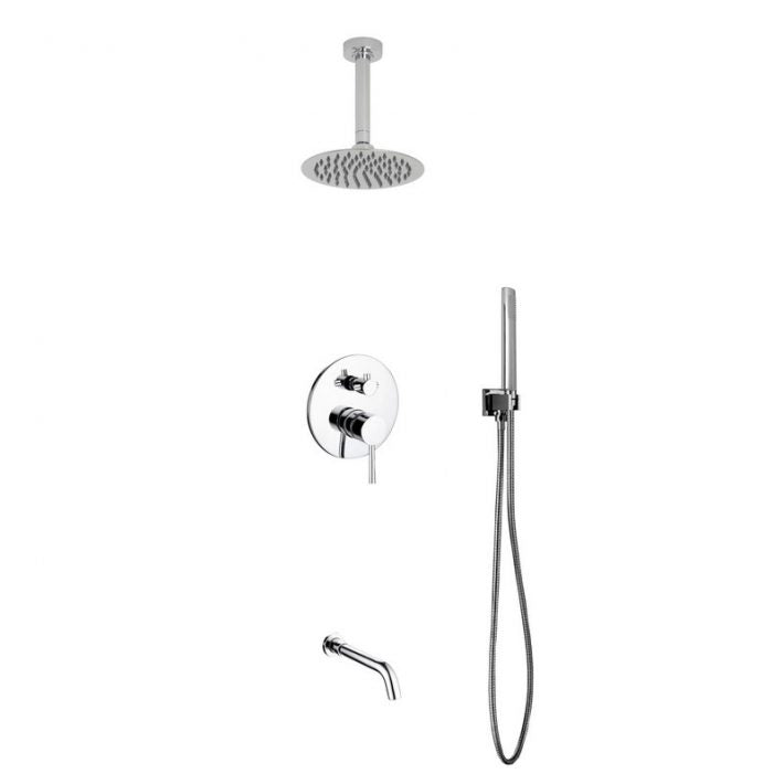 KubeBath Aqua Rondo Shower Set W/ 8
