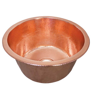 Redondo Grande Bar and Prep Sink in Polished Copper by Native Trails