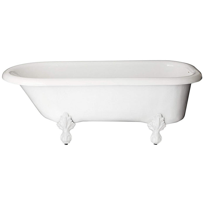 Restoria Regent Clawfoot Bathtub - Rim Faucet Drillings - 60 in