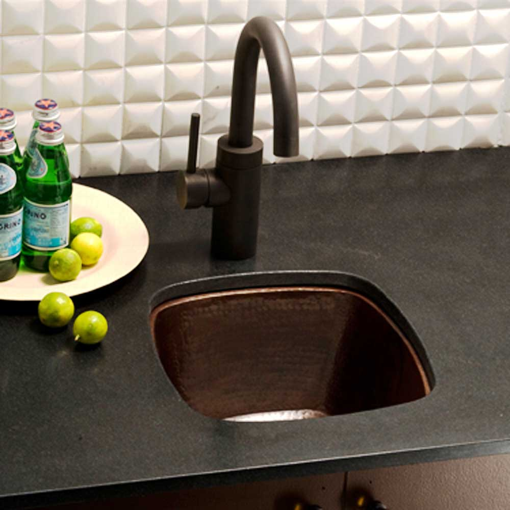 Rincon Bar and Prep Sink in Antique Copper by Native Trails
