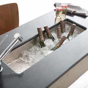 Rio Chico Bar and Prep Sink in Brushed Nickel by Native Trails