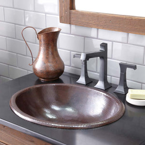 Rolled Classic Bathroom Sink in Antique Copper by Native Trails