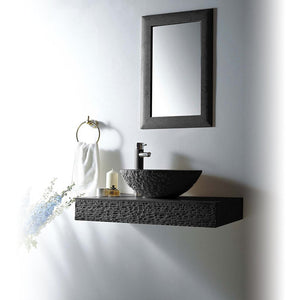 "MTD Vanities Rome 36"" Single Vessel Sink Wall Mount Blue Stone Vanity Set"