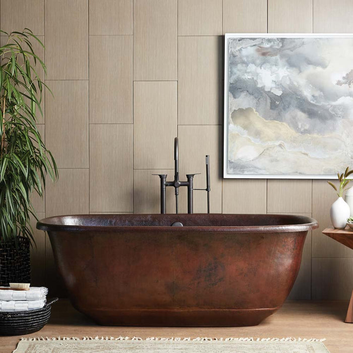 Santorini Copper Bathtub in Antique Copper by Native Trails