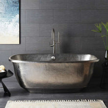 Santorini Copper Bathtub in Brushed Nickel by Native Trails