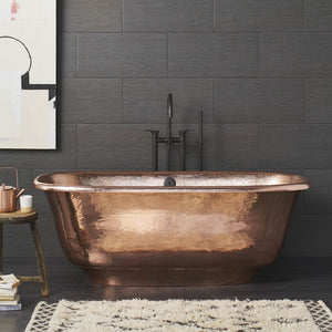 Santorini Copper Bathtub in Polished Copper by Native Trails