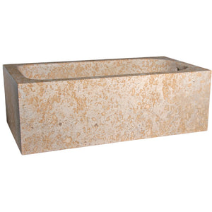 72 Inch Rectangular Stone Freestanding Bathtub by AllStone - TRTA-72-SDM