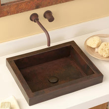 Tatra Bathroom Sink in Antique Copper by Native Trails