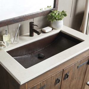Trough 30 Bathroom Sink in Antique Copper by Native Trails