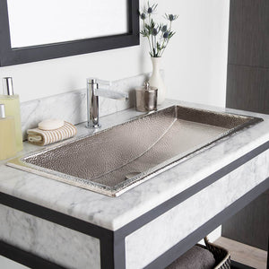 Trough 30 Bathroom Sink in Brushed Nickel by Native Trails