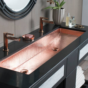 Trough 48 in Bathroom Sink Polished Copper by Native Trails