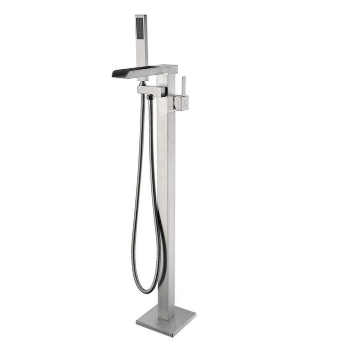 Anzzi Union- 2 Handle Free Standing Tub Filler with Hand Shower