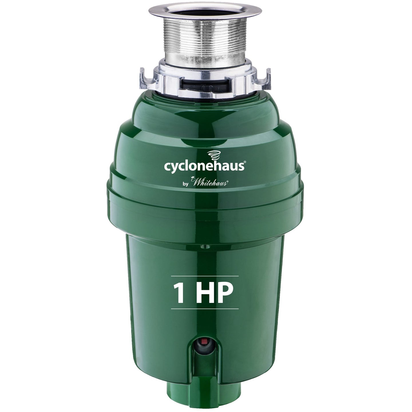Whitehaus cyclonehaus High Effciency Garbage Disposal with Solid Brass Flange and Quiet Operation