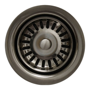 "Whitehaus 3 1/2"" Waste Disposer Trim with Matching Basket Strainer for Deep Fireclay Sinks"