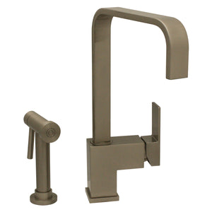 Whitehaus Jem Collection Single Lever Handle Faucet with a Solid Brass Side Spray