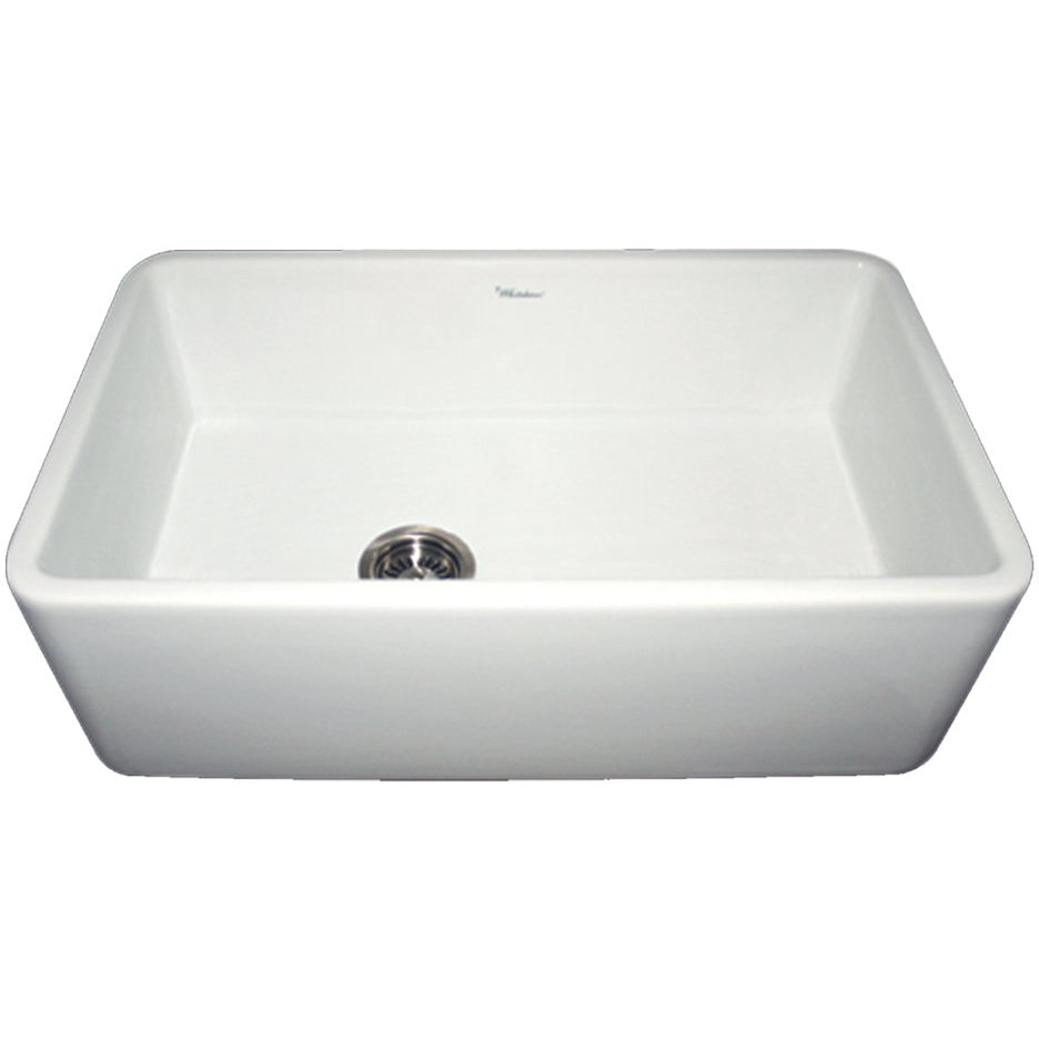 Whitehaus Farmhaus Fireclay Duet Series Reversible Sink with Smooth Front Apron
