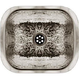 Whitehaus Rectangular Undermount Entertainment/Prep Sink with a Hammered Texture Surface
