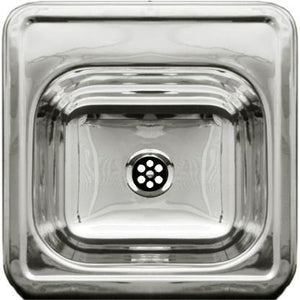Whitehaus Decorative Square Drop-in Entertainment/Prep Sink with a Smooth Surface