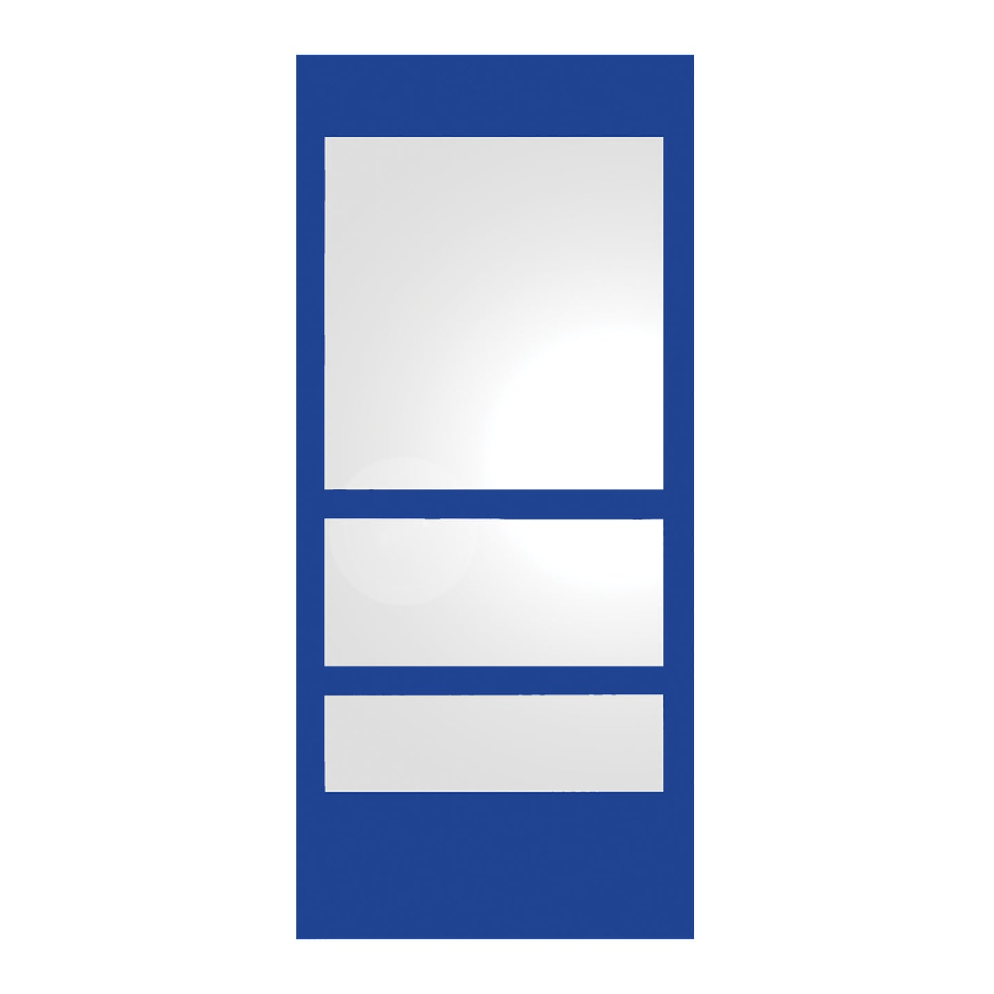 Whitehaus New Generation Rectangular Ecoloom Mirror with Laminated Colored Glass Border