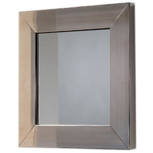 Whitehaus New Generation Square Mirror with Stainless Steel Frame