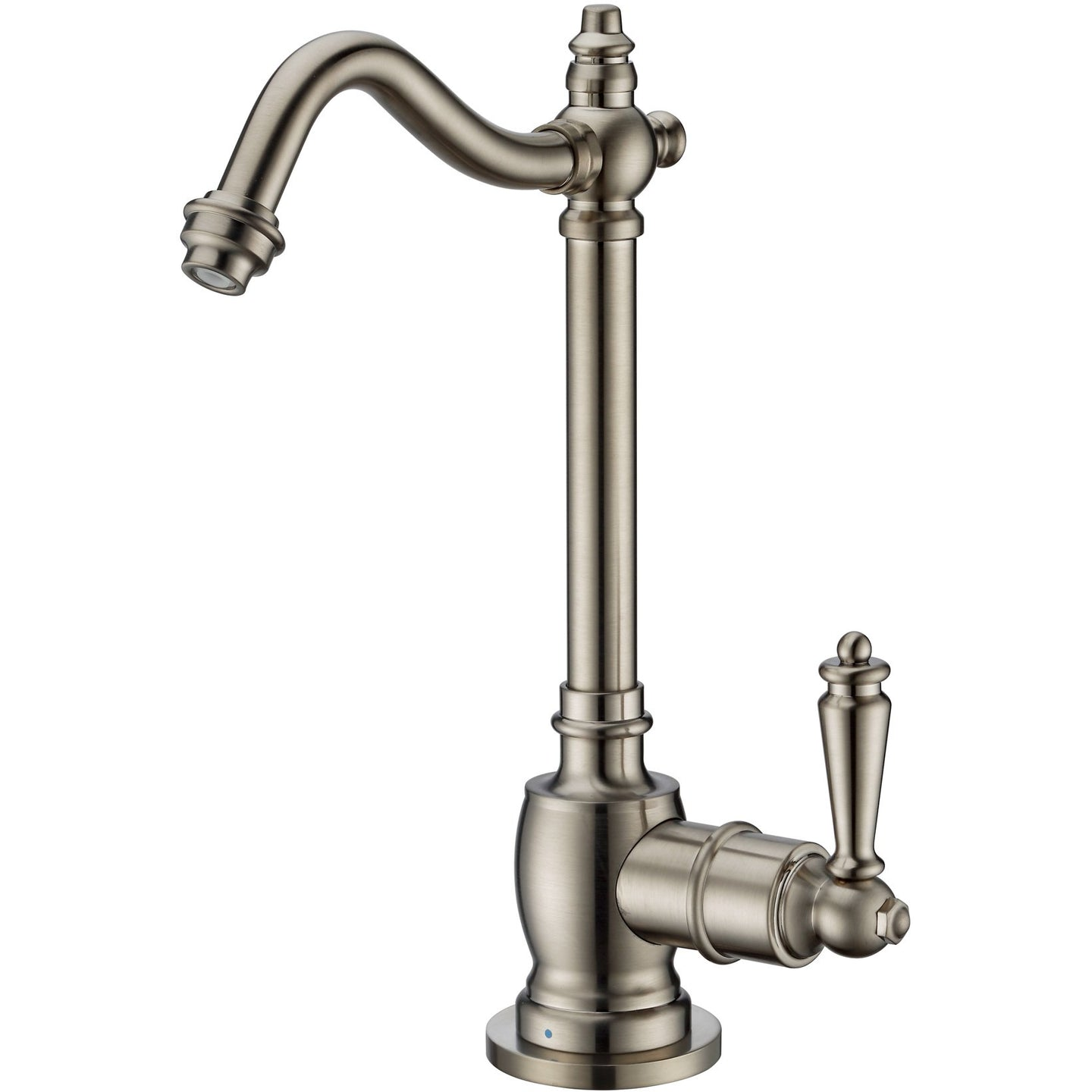 Whitehaus Point of Use Cold Water Drinking Faucet with Traditional Swivel Spout