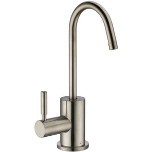 Whitehaus Point of Use Instant Hot Water Drinking Faucet with Gooseneck Swivel Spout