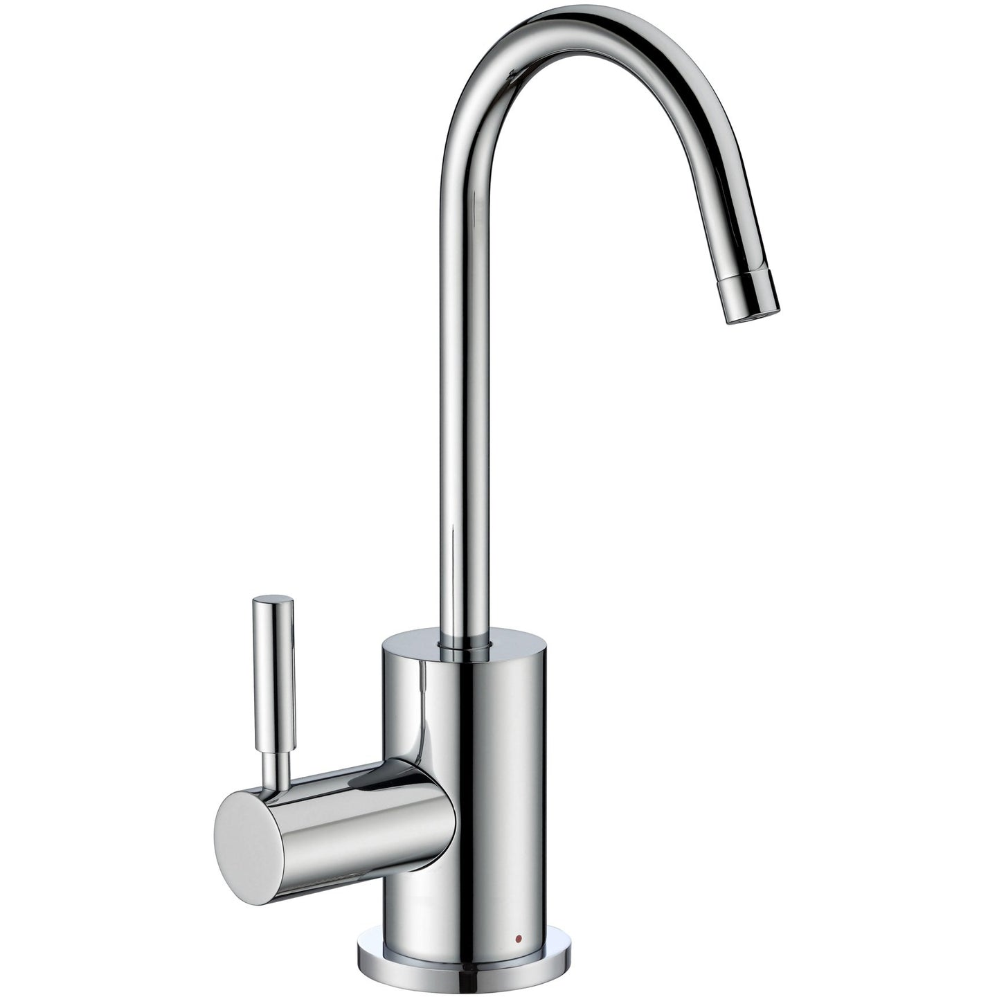 Whitehaus Point of Use Instant Hot Water Faucet with Contemporary Spout and Self Closing Handle