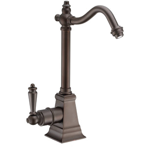 Whitehaus Point of Use Instant Hot Water Drinking Faucet with Traditional Swivel Spout
