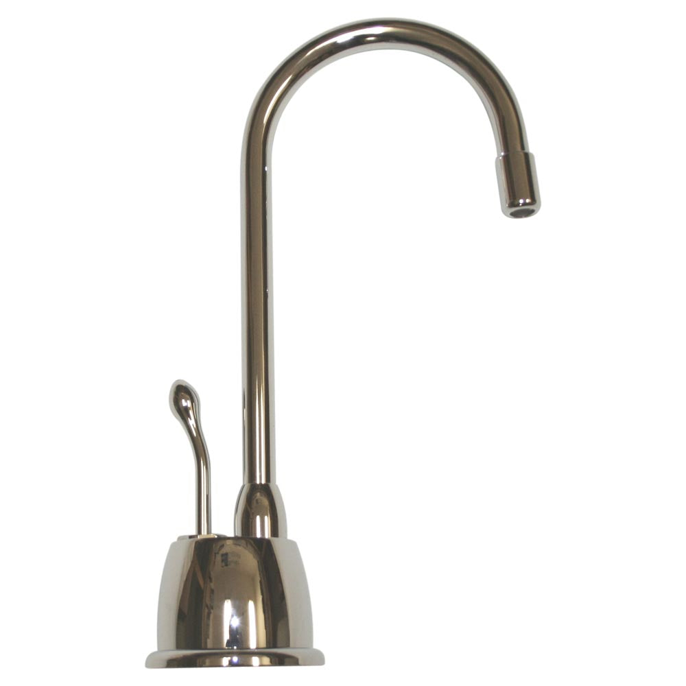 Whitehaus Point of Use Instant Hot Water Faucet with Gooseneck Spout and Self Closing Handle