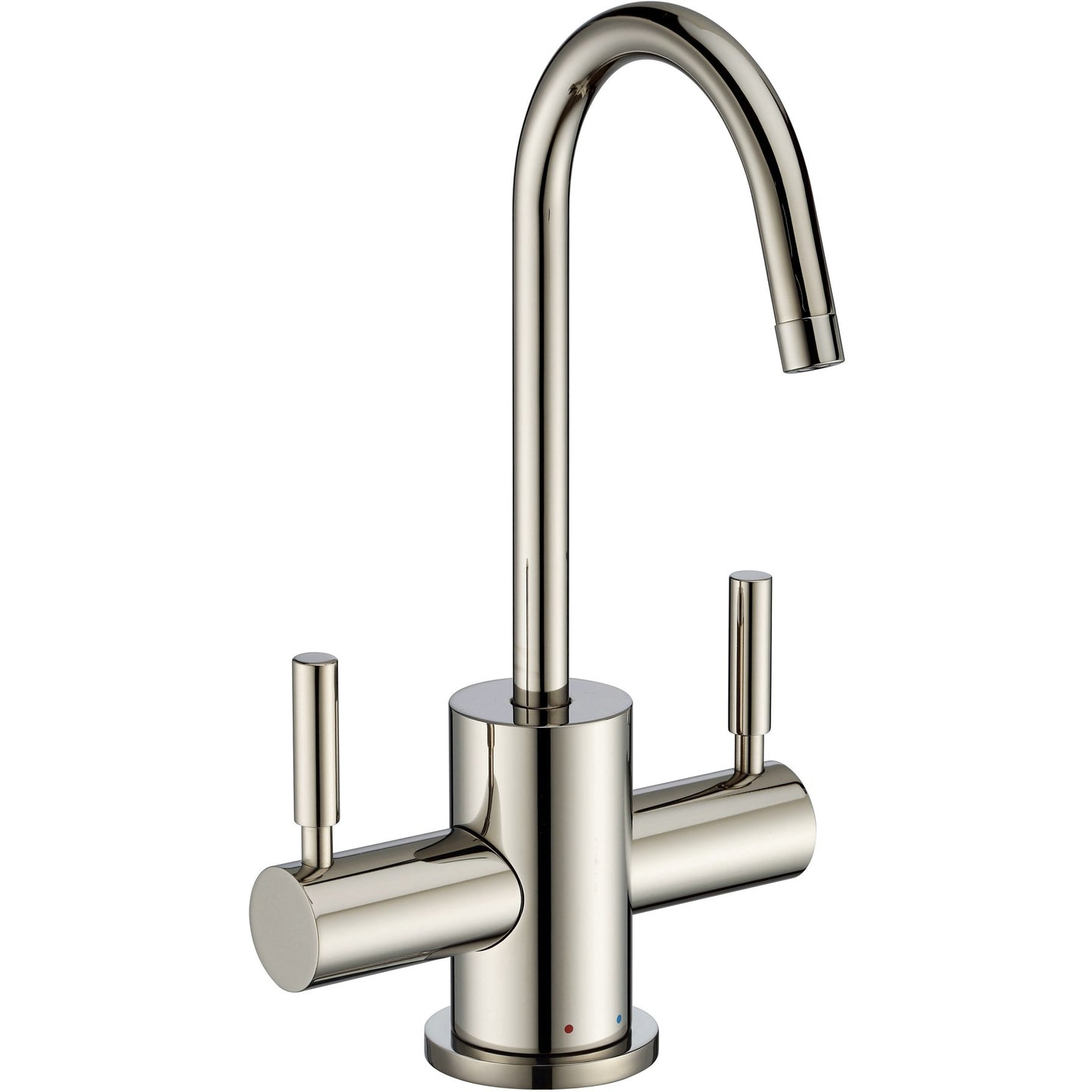 Whitehaus Point of Use Instant Hot/Cold Water Drinking Faucet with Gooseneck Swivel Spout