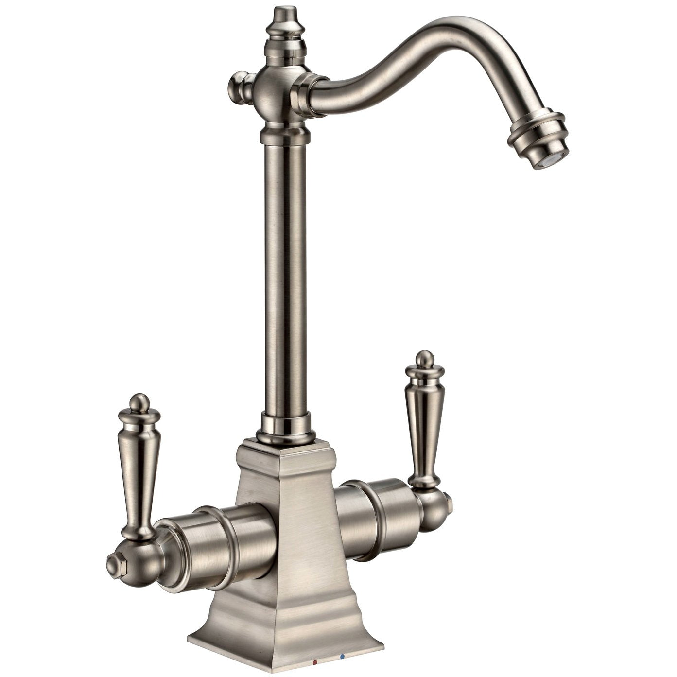 Whitehaus Point of Use Instant Hot/Cold Water Drinking Faucet with Traditional Swivel Spout