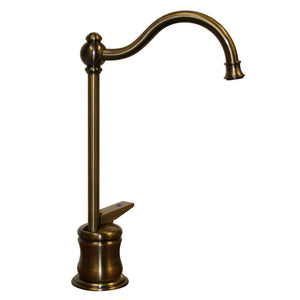 Whitehaus Point of Use Cold Water Faucet with Traditional Spout and Self Closing Handle