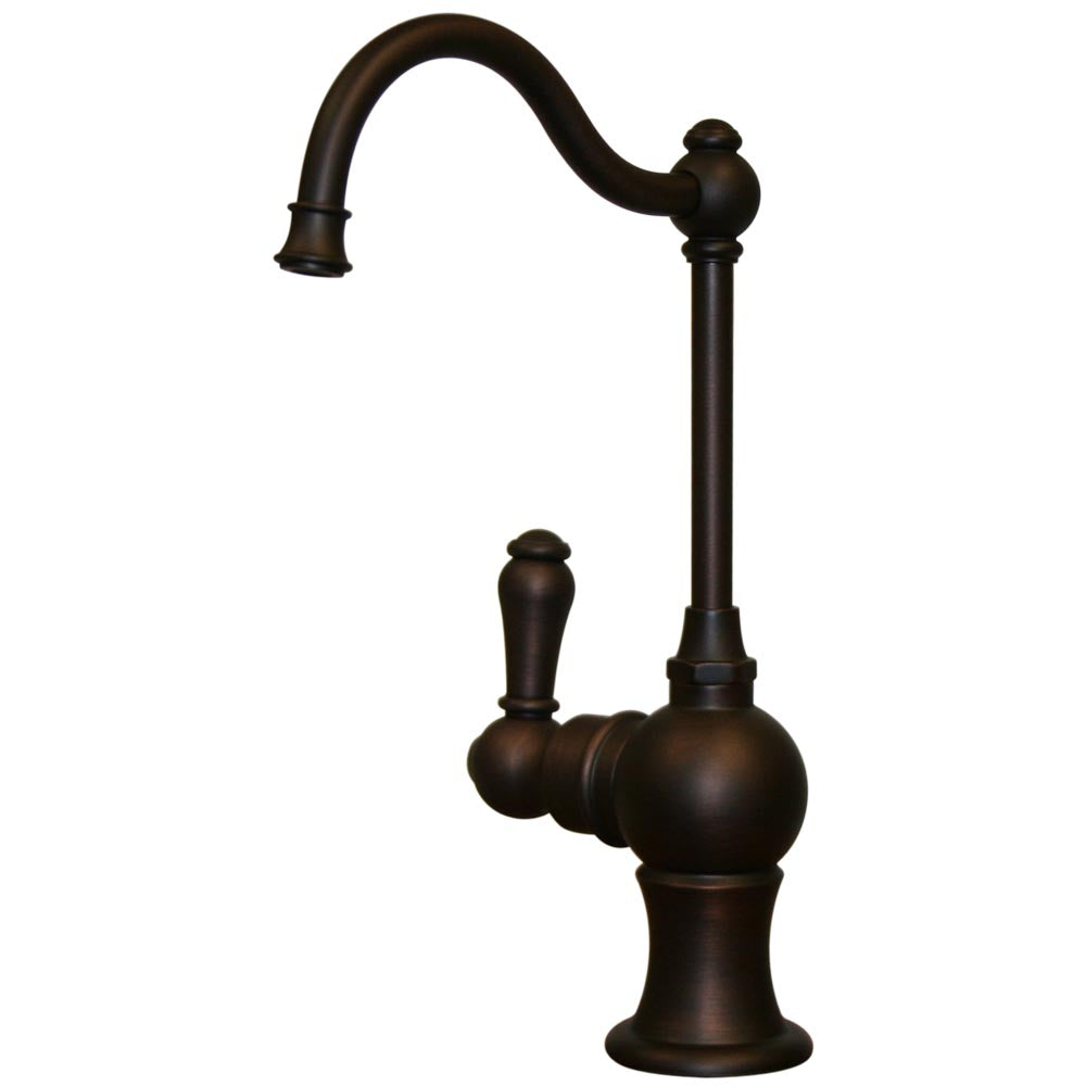 Whitehaus Point of Use Instant Hot Water Faucet with Traditional Spout and Self Closing Handle