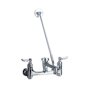 Whitehaus Heavy Duty wall mount service sink faucet with support bracket and lever handles