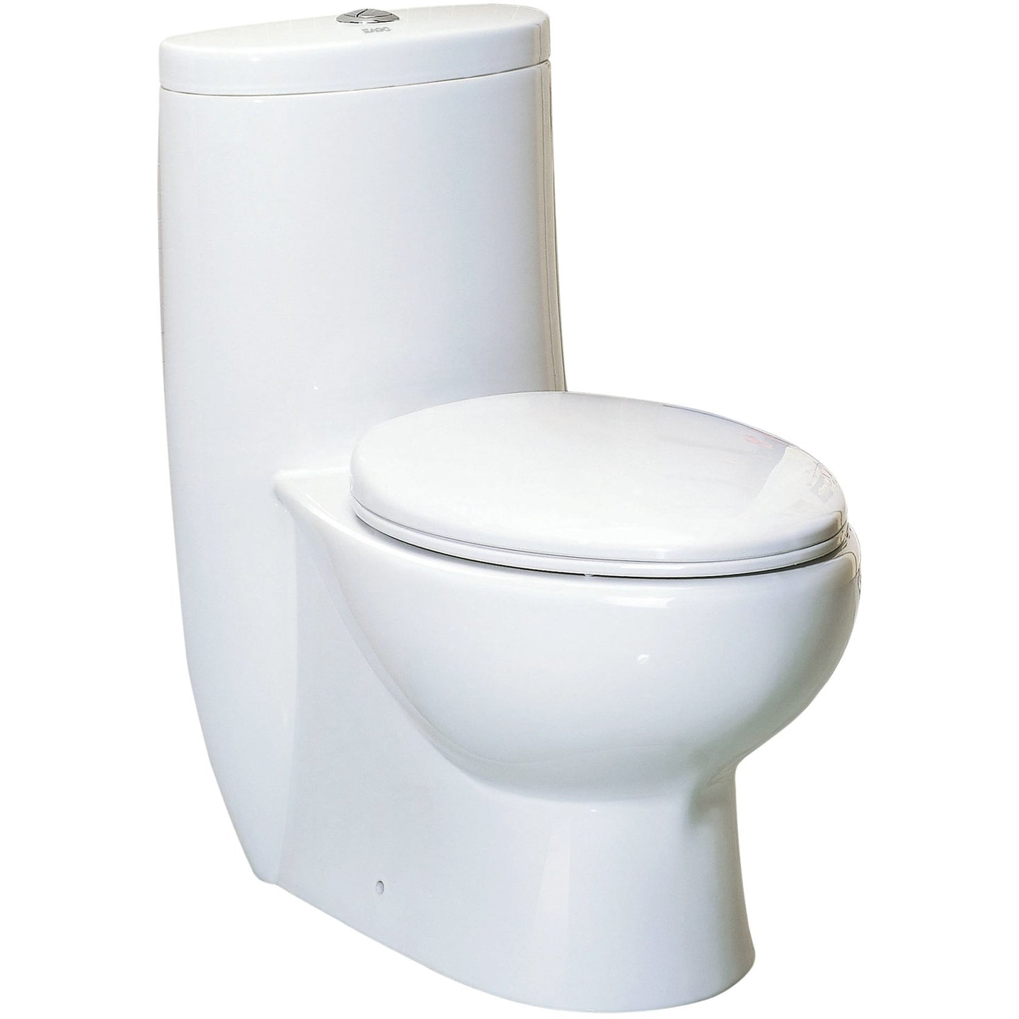 Whitehaus Magic Flush Eco-Friendly One Piece Toilet with a Siphonic Action Dual Flush System, Elongated Bowl, 1.6/1.1 GPF and WaterSense Certified