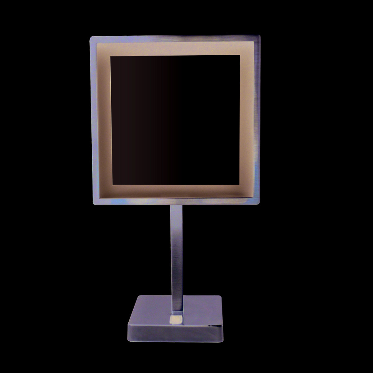 Whitehaus Square Freestanding Led 5X Magnified Mirror