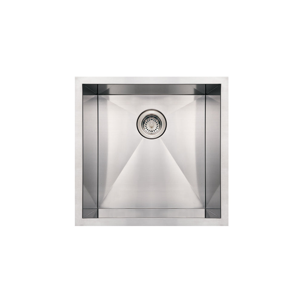 Whitehaus Noah's Collection Brushed Stainless Steel Commercial Single Bowl Undermount Sink