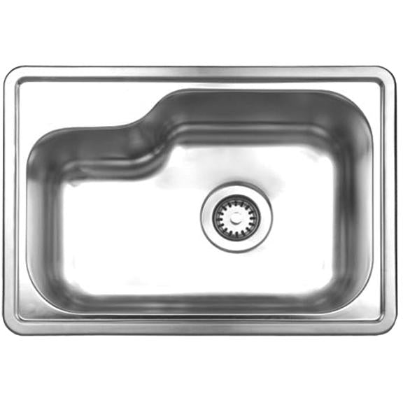 Whitehaus Noah's Collection Brushed Stainless Steel Single Bowl Drop-in Sink