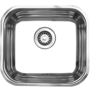Whitehaus Noah's Collection Brushed Stainless Steel Single Bowl Undermount Sink