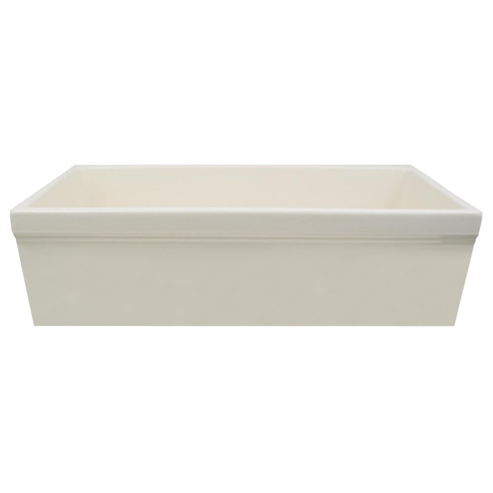 Whitehaus Farmhaus Fireclay Quatro Alcove Reversible Sink with Decorative 2 ½