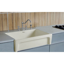 "Whitehaus Fireclay 30"" Reversible Sink with Elegant Beveled Front Apron on one side and Decorative 2"" Lip Plain on Opposite Side"
