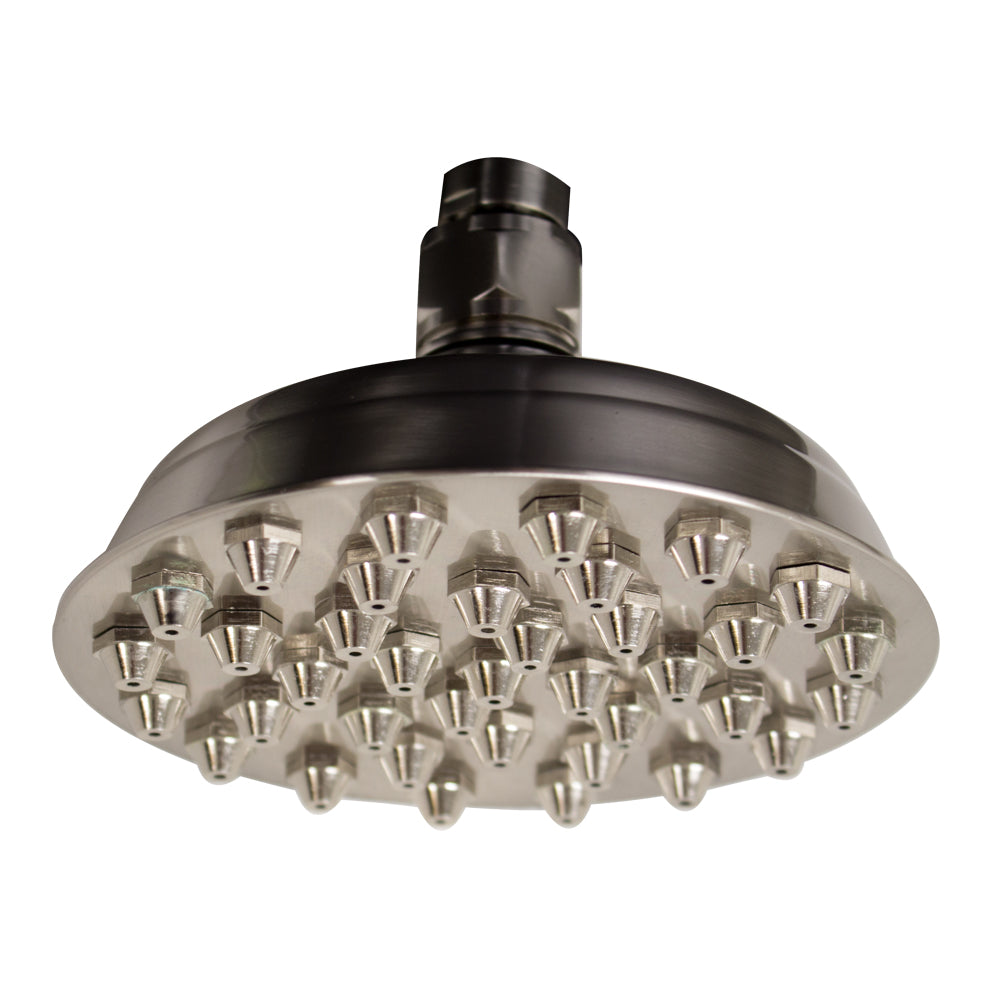 Whitehaus Showerhaus Small Sunflower Rainfall Showerhead with 37 nozzles - Solid Brass Construction with Adjustable Ball Joint