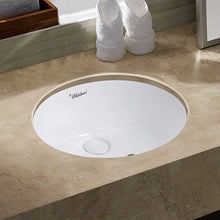 Whitehaus Isabella Plus Collection 18 inch Oval Undermount basin with overflow and rear center drain