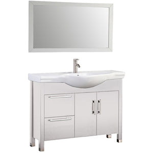 "MTD Vanities Peru 40"" Single Sink Bathroom Vanity Set, White"